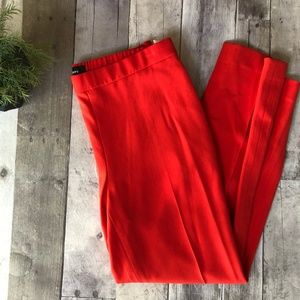 Theory Tomato Red Cropped Crepe Pants Size 6